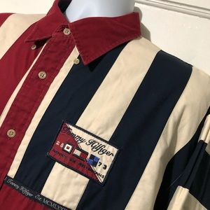 "Tommy Hilfiger Men's VTG Button Flag Shirt ""Sz XL"""